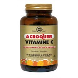 Solgar Vitamine C 500 mg à croquer arôme naturel orange 90 comprimés