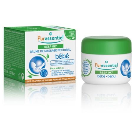Puressentiel Baume de massage pectoral Bébé Resp'OK 30 ml