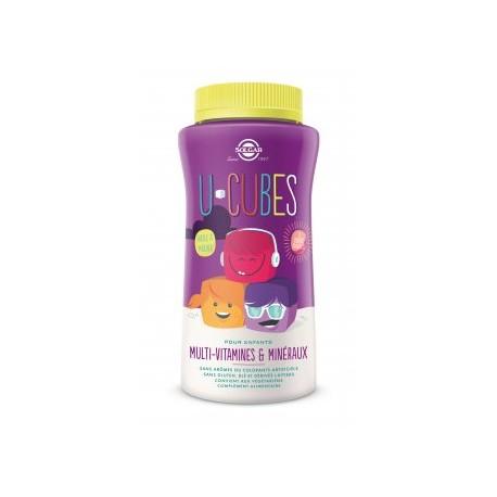 Solgar U-Cubes mutlivitamines et minéraux enfant 60 gommes