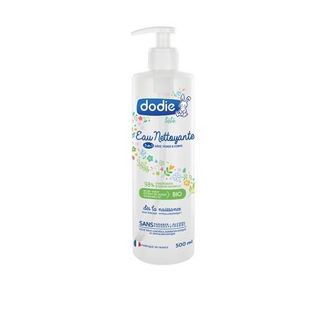 Dodie Eau nettoyante 3 en 1 siège visage et corps 500 ml