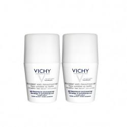 Vichy Déodorant Anti-transpirant bille peau sensible 50 ml lot de 2