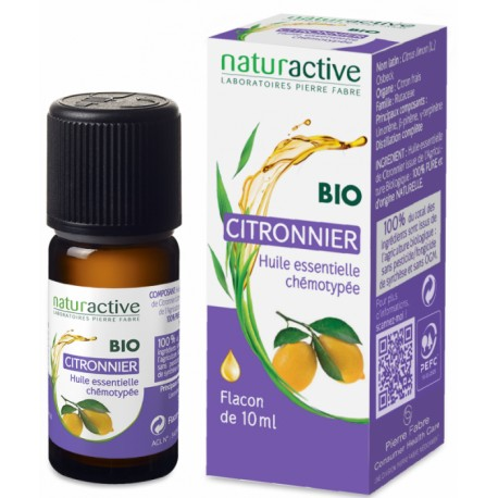 Naturactive Huile Essentielle Bio Citronnier 10 ml