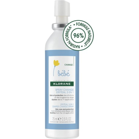 Klorane Bébé spray change Ertyeal 3 en 1 75 ml