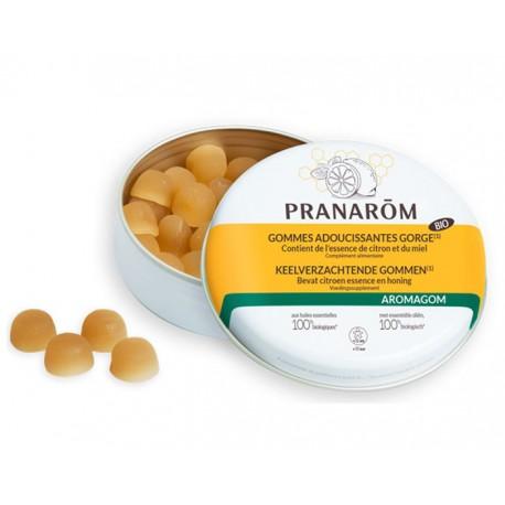 Pranarom Aromagom Gommes adoucissantes gorge Miel Citron Bio 45g