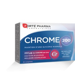 Forté Pharma Chrome 200 30 comprimés