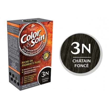 3 Chênes Color & Soin châtain foncé 3N