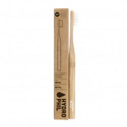 Hydrophil Brosse à dents durable en bambou naturel moyen doux