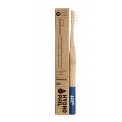 Hydrophil Brosse à dents durable en bambou bleu foncé extra doux
