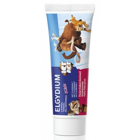 Elgydium Kids Dentifrice L'Âge de Glace arôme Fraise givrée 50ml