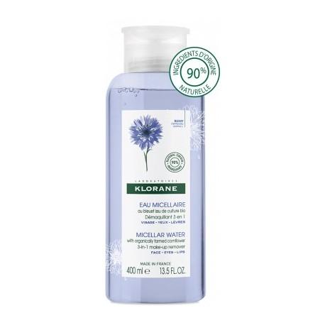Klorane Bleuet Eau micellaire démaquillante 3 en 1 400 ml
