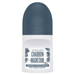 Déodorant Schmidt's Roll on Charbon Magnésium 50ml