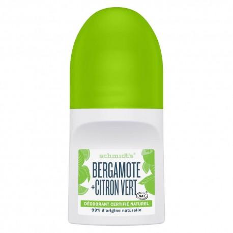 Déodorant Schmidt's Roll On Bergamote Citron vert 50ml