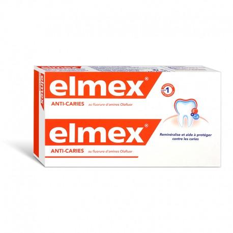 Elmex dentifrice Anti-Caries au fluorure d'amines Olafluor 2x75ml