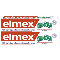 Elmex Dentifrice Junior 7 à 12 ans 2x75ml