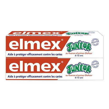 Elmex Dentifrice Junior 7 à 12 ans 2x75ml