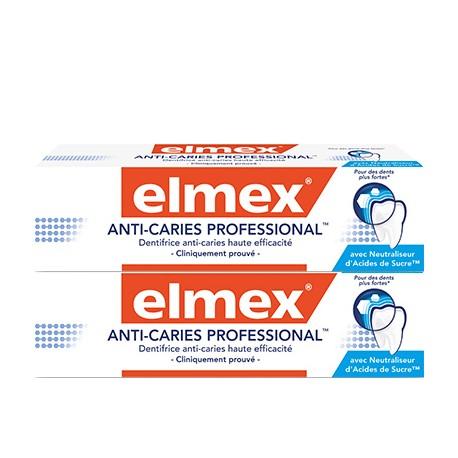 Elmex dentifrice Anti-Caries Professional 2x75ml