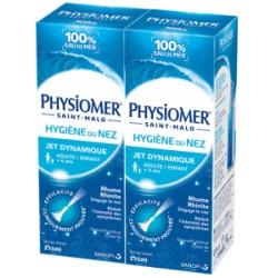 Physiomer hygiène du nez jet dynamique lot de 2x135ml