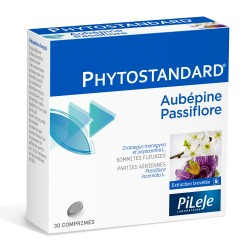 Pileje Phytostandard Aubépine et Passiflore 30 comprimés