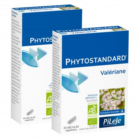 Pileje Phytostandard Valériane 60 gélules végétales