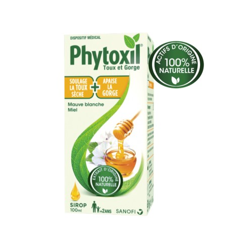 Phytoxil sirop 100% naturel toux sèche et gorge 100ml