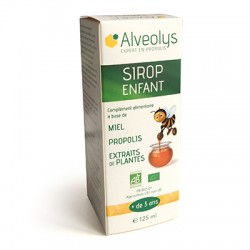 Alveolys Sirop enfant Miel Propolis 125 ml