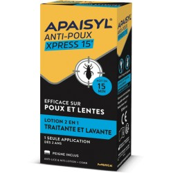 Apaisyl xpress 15' Lotion anti-poux et lentes 100 ml