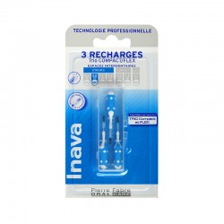 Inava Recharge 3 brossettes interdentaires 0.8 mm TRIO COMPACT - FLEX