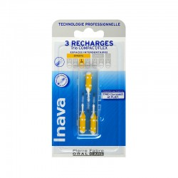Inava Recharge 3 brossettes interdentaires 1mm TRIO COMPACT - FLEX