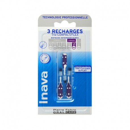 Inava Recharge 3 brossettes interdentaires 1.8mm TRIO COMPACT - FLEX