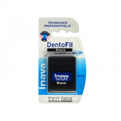 Inava Dentofil black fil dentaire à la chlorhexidine - 50 m