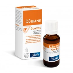 Pileje D3 Biane Vitamine D Flacon compte-goutte 20 ml