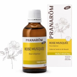 Pranarôm Huile Végétale Bio Rose Musquée 50 ml