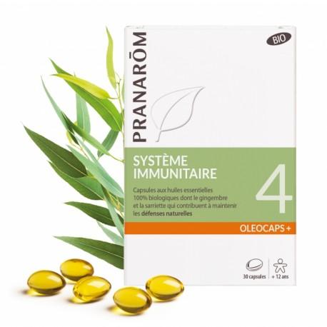 Pranarôm Oléocaps+ 4 Système immunitaire 30 capsules
