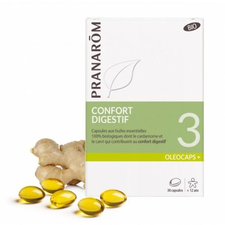 Pranarôm Oléocaps+ 3 Confort digestif 30 capsules