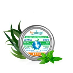 Puressentiel Respiratoire Gommes adoucissantes menthe eucalyptus 45 g