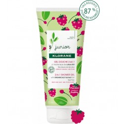 Klorane Junior gel douche 2 en 1 corps & cheveux framboise 200 ml