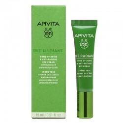 Apivita Bee Radiant Crème Anti-âge et Anti-fatigue Contour des Yeux flacon 15ml