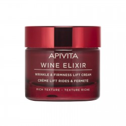 Apivita Wine Elixir Crème Lift Rides & Fermeté - Texture Riche pot 50ml