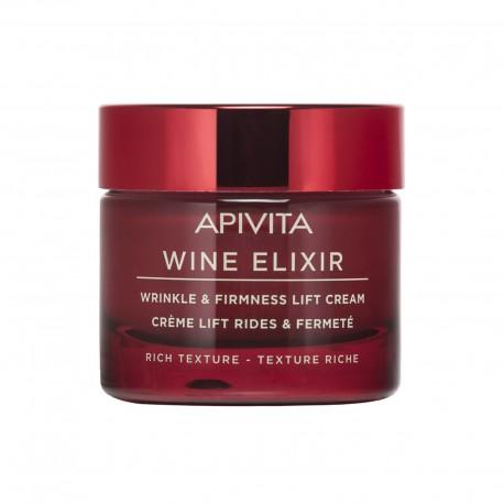 Apivita Wine ElixirCrème Lift Rides & Fermeté - Texture Riche pot 50ml