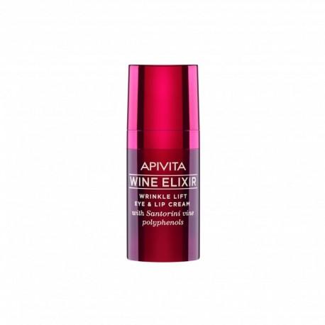 Apivita Wine Elixir Crème Yeux & Lèvre Lift Rides flacon 15ml