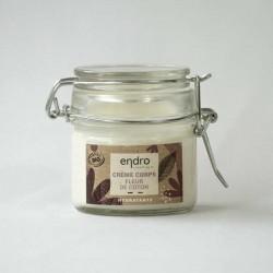 Endro Crème Corps hydratante fleur de coton flacon en verre de 100ml