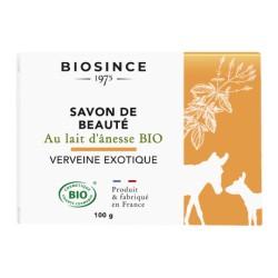 Biosince 1975 Savon de beauté au lait d'ânesse Bio Verveine exotique 100g