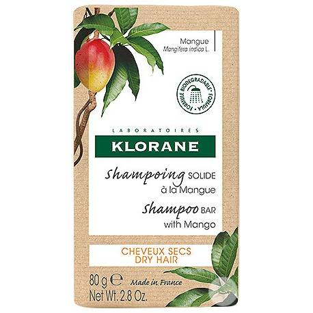 Klorane Shampoing Solide à la Mangue 80g