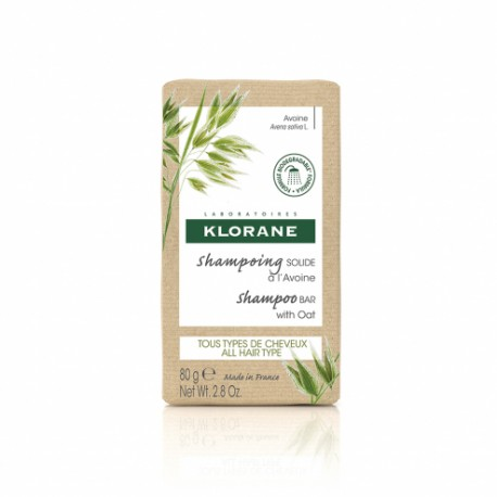 Klorane Shampoing Solide à l'Avoine 80g