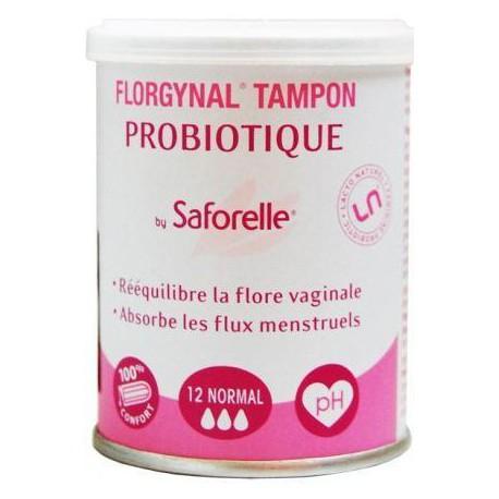 Saforelle Florgynal 9 Tampons Probiotique Normal compact