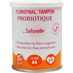 Saforelle Florgynal Tampon Probiotique Boite 9 Mini Compact