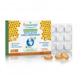 Puressentiel Respiratoire 24 pastilles aux 3 miels aromatiques