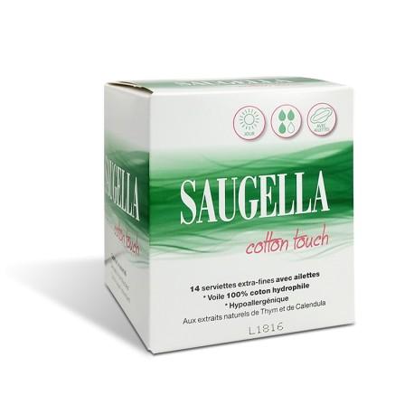 Saugella Cotton Touch 14 serviettes hygiéniques jour