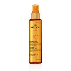 Nuxe Sun Huile bronzante visage et corps SPF 10 150 ml
