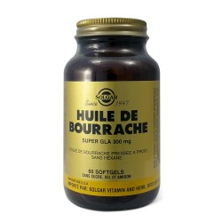 Solgar Huile de Bourrache Super GLA 300mg 60 softgels